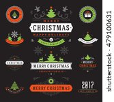 christmas labels and badges... | Shutterstock .eps vector #479100631