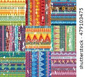 color seamless tribal texture | Shutterstock .eps vector #479103475