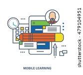 concept of education  mobile... | Shutterstock .eps vector #479104951