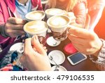 group of friends cheers with... | Shutterstock . vector #479106535