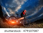 mountain bicycle rider on the...   Shutterstock . vector #479107087