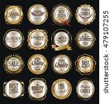 retro vintage golden labels... | Shutterstock .eps vector #479107255