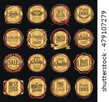 retro vintage golden labels... | Shutterstock .eps vector #479107279