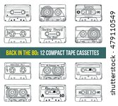 vector set of compact tape... | Shutterstock .eps vector #479110549