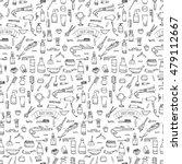 seamless pattern hand drawn... | Shutterstock .eps vector #479112667