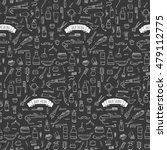 seamless pattern hand drawn... | Shutterstock .eps vector #479112775