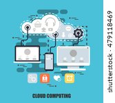 flat concept of cloud data... | Shutterstock .eps vector #479118469