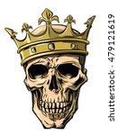 vector skull with crown on... | Shutterstock .eps vector #479121619