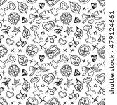 monochrome black and white... | Shutterstock . vector #479124661