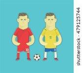 brazil football players | Shutterstock .eps vector #479125744