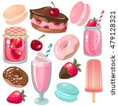 vector set of delicious sweets... | Shutterstock .eps vector #479128321