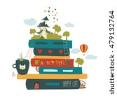 fairytale concept with book and ... | Shutterstock .eps vector #479132764