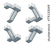 Isometric Staircase. Vector...