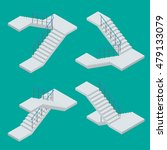 Isometric Vector Staircase For...