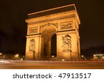 arc in paris arc de triumph ... | Shutterstock . vector #47913517
