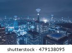 cityscape with wi fi connection ... | Shutterstock . vector #479138095