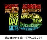happy 15th birthday word cloud... | Shutterstock .eps vector #479138299