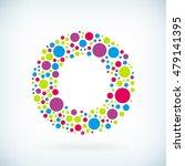 modern letter o circle stroke... | Shutterstock .eps vector #479141395