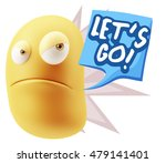 3d illustration angry face... | Shutterstock . vector #479141401