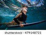slim surfer blonde model in...   Shutterstock . vector #479148721