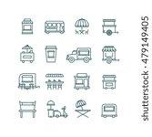 street food retail  food truck... | Shutterstock .eps vector #479149405
