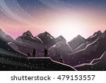 climbing under sunrise when... | Shutterstock .eps vector #479153557