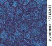 seamless vector floral pattern. ...   Shutterstock .eps vector #479153659