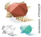 turtle illustration graphic art ... | Shutterstock .eps vector #479156239