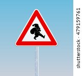 traffic sign with a silhouette... | Shutterstock .eps vector #479159761