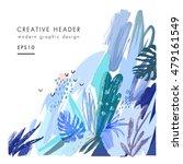 creative universal floral... | Shutterstock .eps vector #479161549