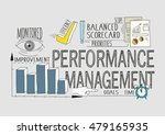 performance management concept | Shutterstock .eps vector #479165935