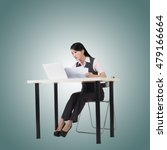 asian business woman sit and... | Shutterstock . vector #479166664
