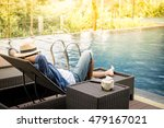 relax in the pool. young and... | Shutterstock . vector #479167021