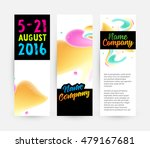 abstract liquid bubbles shapes...   Shutterstock .eps vector #479167681