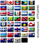 38 flags icons  buttons  of... | Shutterstock . vector #47916940