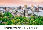 Rotterdam Skyline With Erasmus...