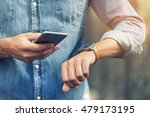 man in the street with mobile... | Shutterstock . vector #479173195