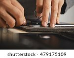 master uses vacuum plug to... | Shutterstock . vector #479175109