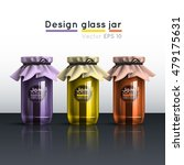 glass jar with jam. a template... | Shutterstock .eps vector #479175631