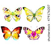 butterfly watercolor  isolated... | Shutterstock . vector #479176207