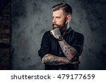 portrait of bearded hipster... | Shutterstock . vector #479177659