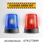 two police flasher sirens set... | Shutterstock .eps vector #479177899
