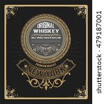 old  label design for whiskey... | Shutterstock .eps vector #479187001