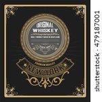 old  label design for whiskey... | Shutterstock .eps vector #479187001