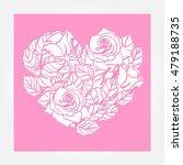 laser cut vector rose heart... | Shutterstock .eps vector #479188735