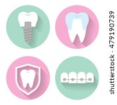 set of vector icons for dental... | Shutterstock .eps vector #479190739