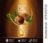 argan oil serum and background... | Shutterstock .eps vector #479193715