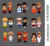 people in national dress.... | Shutterstock .eps vector #479195989