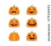 set of various halloween... | Shutterstock .eps vector #479196991