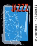 jazz concept  man playing the... | Shutterstock .eps vector #479200651